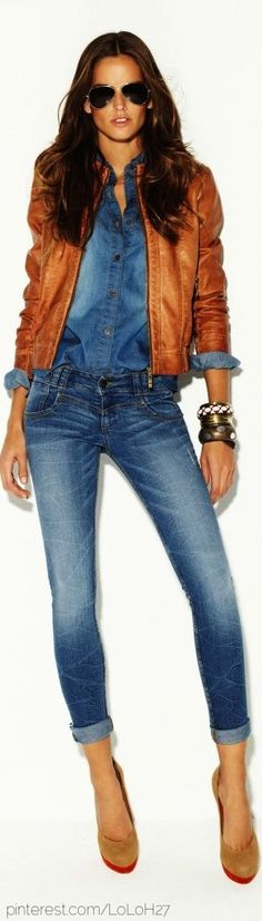 I absolutely love this. I think I'd wear the top and jacket with vintage bootcut jeans and sandals.