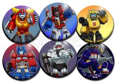 Classic Transformers Chibi 175 PinBacked Buttons  Set by ghostfire, $10.00