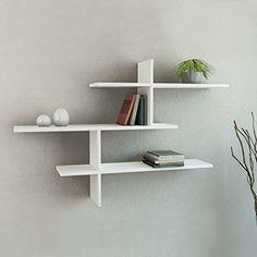 """Leo 3-Shelf Wall Shelf White h:32"""" w:46"""" d:8.6"""" DECORTIE https://www.amazon.com/dp/B00WFJ32KY/ref=cm_sw_r_pi_dp_x_O0j5zbMZPF964"""