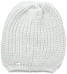 331e0392430 Calvin Klein Womens Metallic Shaker Stitch Slouchy Beanie Creme One Size      Want to know more