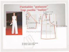 """Patrón y costura : pantalón tipo """"palazzo""""-Tema 24"""