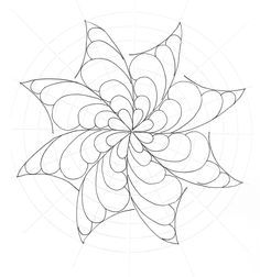 This is the swirly pinwheel filled in with simple free form feathers.