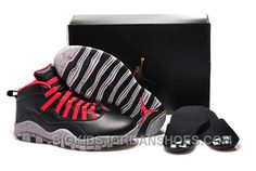 "de1b3d20a3b8af Women Air Jordan 10 GS ""PSNY"" X Public School Black-Grey Gym Red 2016  Authentic"