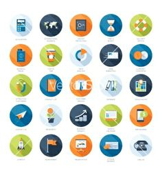 Business icons vector by vasabii on VectorStock®