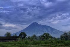 """On the Edge of A Volcano at Mount Merapi  The Merapi volcano plays an important part in the accepted cosmos of the Javanese sultans. The Keraton of Yogyakarta faces the mountain in one direct line. Merapi is also guarded by spiritual """"guards"""" who give offerings to the mountain."""