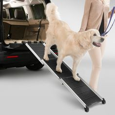 Dogwalk Dog Ramp Makes it easy to navigate stairs and higher boot openings. Retracts to save space.