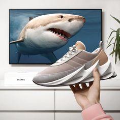 adidas shark sneaker concept by nikanor yarmin Hype Shoes, Men's Shoes, Shoes Sneakers, Buy Shoes, Rihanna, Shark Shoes, Kendall Jenner, Alexandra Daddario, Vans Sk8