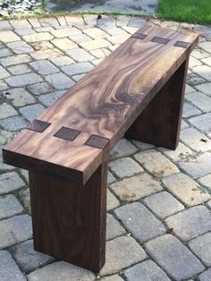 Teds Wood Working - Black Walnut Bench - Get A Lifetime Of Project Ideas & Inspiration! Woodworking Bench, Woodworking Projects, Furniture Projects, Wood Projects, Rustic Furniture, Diy Furniture, Diy Bank, Wood Joints, Bench Designs