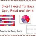 This quick and easy game has students reading short i word family words and pictures.  Students spin a spinner and move along a game board, readi...