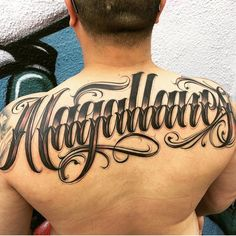 Name Tattoos On Back, Last Name Tattoos, Names Tattoos For Men, Back Tattoos For Guys, Word Tattoos, Tatoos, Chicano Tattoos Lettering, Tattoo Lettering Styles, Hand Drawn Lettering