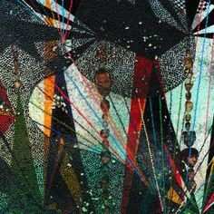 Chris Ofili, I like this because there is a lot of like and dots in this piece which makes it more exciting and its like opposites have been used, there are a lot of primary colours and a couple of secondary colours which shows a combination