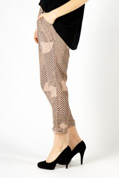 Natalie Cropped Woven Pant