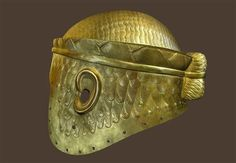 """The gold helmet that belonged to Meskalamdug, the King of Kish. Whether Sumerian or Akkadian, a king could wear this type of helmet only after he had conquered all of Sumer and Akkad, and thus earned the title of """"The King of Kish"""".  From Royal Tombs of Ur.  Univ. of Philadelphia"""