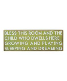 Bless this room and the child who dwells here...