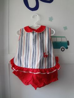 Vintage July 4th outfit red white and blue out by Lilacwinevintage