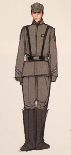 "Concept art of an Imperial Officer by Sang Jun Lee from ""Star Wars Episode III: Revenge of the Sith"" (2005)."