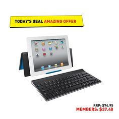 Geek deals Logitech Bluetooth keyboard for tablets for 50 - Tablets are becoming better productivity devices, but one thing that consistently holds them back is the lack of a physical keyboard. With todays deal on the Logitech Apple Ipad Accessories, Computer Accessories, Bluetooth Keyboard, Computer Keyboard, Online Computer Store, Unique Gadgets, Ipad Tablet, Geek Stuff, Android