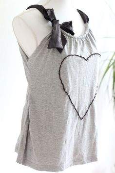 Upcycle tshirt into ribbon tank top