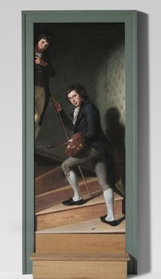 """Charles Willson Peale, """"Staircase Group,"""" 1795 Long ago, when President George Washington saw this painting, he tipped his hat to the boys, thinking they were real."""