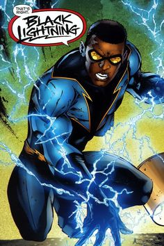 Black Lightning screenshots, images and pictures - Comic Vine Dc Heroes, Comic Book Heroes, Comic Books Art, Comic Art, Book Art, Black Characters, Dc Comics Characters, Justice League, The Cw
