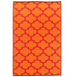 """Outdoor-Wende-Teppich  """"Tangier"""" orange & rot (120x180cm) für 69,- EUR"""