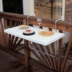 gran idea para balcones pequeños, mesa ajustable