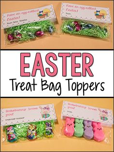 These sweet little smore peeps treat bags are easy to make and easter treat bag toppers free printable negle Image collections