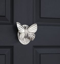 Butterfly Door Knocker (Polished Nickel, Unlacquered Brass, Oil-Rubbed Bronze, Burnished Antique, Brushed Nickel, Lacquered Brass) #animaldoorknockers