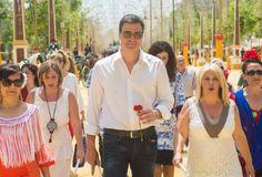 Publicación en El Mundo, de la visita de pedro Sanchez a la feria de Jerez.