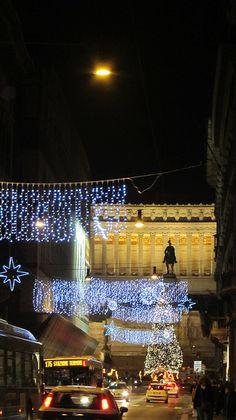 Christmas in Rome, on Via del Corso.