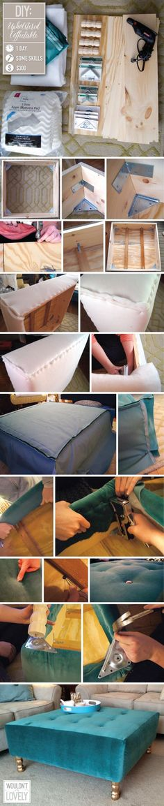 DIY Upholstered Coffee Table Pictures, Photos, and Images for Facebook, Tumblr, Pinterest, and Twitter