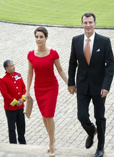 MYROYALS  FASHİON: King Willem-Alexander and Queen Maxima visit Denmark-Princess Marie and Prince Joachim attended a lunch for the couple
