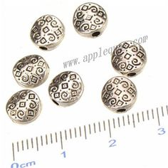 Zinc Alloy Flat Beads,Round,Plated,Cadmium And Lead Free,Various Color For Choice,Approx 6.7*3mm,Hole:Approx 1.5mm,No 010861