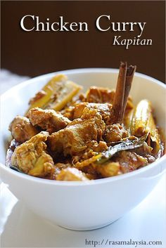 Chicken Curry Kapitan Recipe | http://rasamalaysia.com #malaysianrecipe #chicken #curry