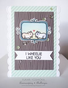 """Lawnscaping Challenge: """"I Wheelie Like You"""" by Handmade by Yuki 