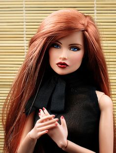 "OOAK Fashion Royalty Dress Code Vanessa II repaint ""Ruby"" 
