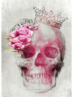 "Saatchi Art Artist Xrista Stavrou; Drawing, ""Skull Art "" #art"