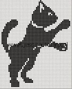 Tapete de Gato em Crochê Filé, feito com barbante natural número 2 Para conhecerem várias idéias e modelos da net clique nos links ab...