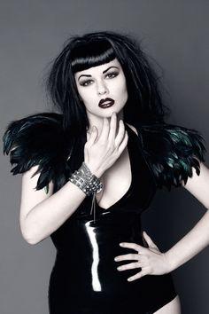lovely black hair