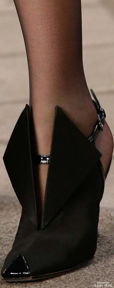 Chanel ~ Couture Fall Black Suede Shoe 2015
