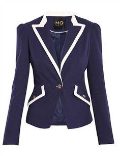 Navy blue jacket. Morgan de toi.