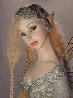 """""""Menthe"""" doll sculpted by Hannie Sarris... RIP Hannie... You are an inspiration to my creativeness!"""