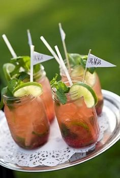Best drink for a British summer wedding... Pimm's.