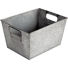 Pantry organization - Better Homes and Gardens Small Galvanized Bin, Silver Metal Storage Bins, Metal Bins, Pantry Storage, Cube Storage, Pantry Organization, Bookcase Storage, Kitchen Storage, Food Storage, Classroom Organization