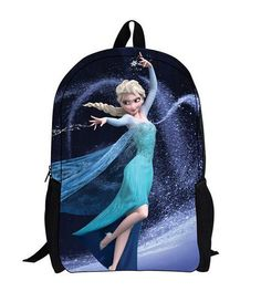 Mochila Elsa. Frozen: El Reino del Hielo Estupenda mochila con la imagen de Elsa sobre la película Frozen: el Reino del Hielo.