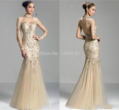 High Collar Sexy See Through Neck Long Sleeves Lace Mother of the Bride Dresses Plus Size Godmother Dress Vestido Mae da Noiva