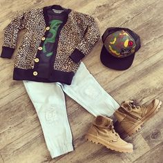 BOYS PICK OF THE WEEK!!  @munsterkids long sleeve tee, @rock_your_baby Leopard Cardi, @alphabetsoupclothing pant and hat, @palladiumboots_aus #SHOPTHELOOK #TCFS www.toocoolforschool.com.au