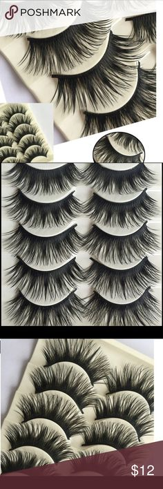 False eyelashes set of 5 brand new in package This is a set of beautiful high quality false eyelashes set of 5.  Buy with confidence I am a top rated seller, mentor and fast shipper.  Don't forget to bundle and save.  Thank you. Accessories