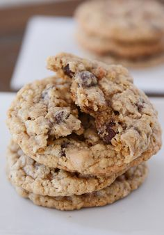 Oatmeal Butterscotch Chocolate Chip Cookies | Mel's Kitchen Cafe