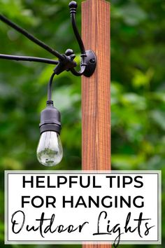 How to hang Edison Bulbs on your deck for warm and relaxing summer nights. Includes our layout and outdoor string light installation ideas. outdoor lighting How to Install Deck Lighting using Edison Outdoor String Lights Outdoor Deck Lighting, String Lights Outdoor, Outdoor House Lights, Lights On Deck, Lights In Backyard, Pergola Lighting, Hanging Lights On Patio, Lights In Garden, How To Hang Patio Lights
